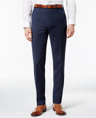 Ben Sherman Men's Slim-Fit Blue Solid Suit Pants $175 thestylecure.com