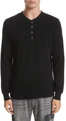 Ovadia & Sons Long Sleeve Wool Henley