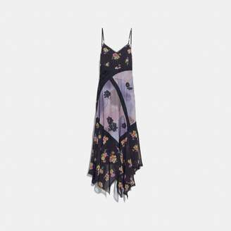 Coach Mixed Print Slip Dress
