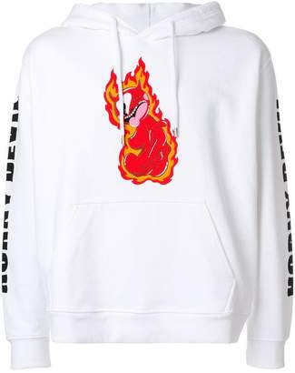House of Holland flame print hoodie