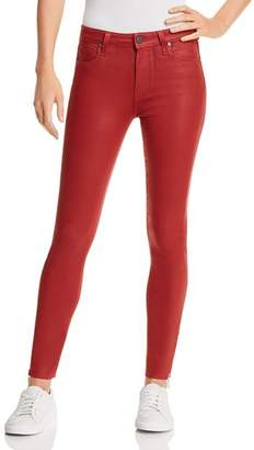 Paige Coated Hoxton Ankle Peg Skinny Jeans in Heartthrob Luxe