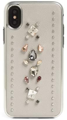 Rebecca Minkoff Crystal Embellished iPhone X Case
