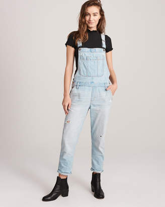 Abercrombie & Fitch Ripped Boyfriend Overalls