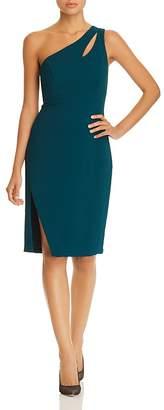 Avery G One-Shoulder Crepe Dress