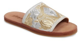 Jeffrey Campbell Women's Jeffrey Campbell Sarasi Flower Embroidered Slide Sandal