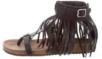 Loeffler Randall Leather Fringe-Trimmed Sandals