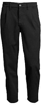 Hudson Jeans Men's Cropped Pleated Cotton Pants
