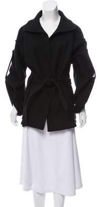 Bottega Veneta Wool-Angora Open Front Coat