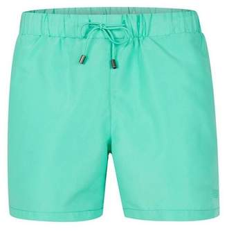 Topman Mens Mint Green Embroidered Logo Swim Shorts