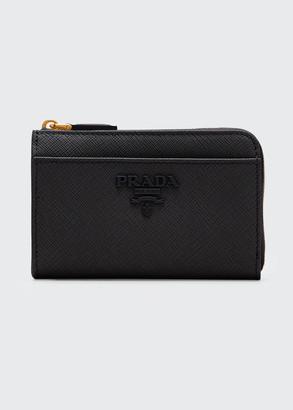 Prada Saffiano Shine Wallet with Key Ring