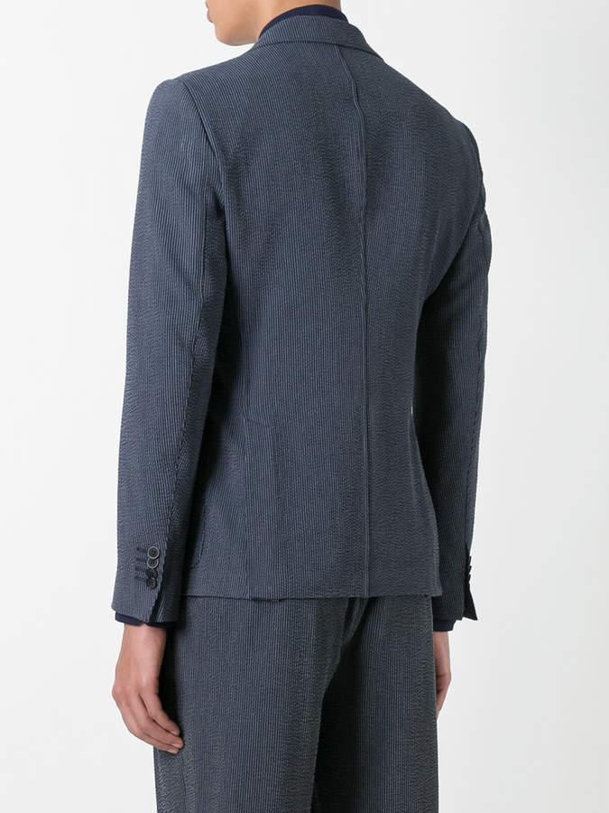 Giorgio Armani Fantasia striped seersucker blazer