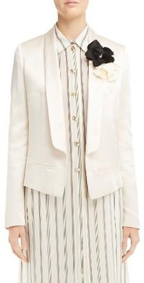 Women's Lanvin Satin Tuxedo Blazer $2,305 thestylecure.com