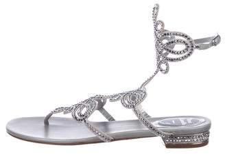 Rene Caovilla Embellished Cutout Sandals