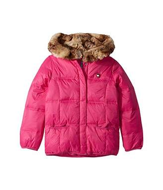 Tommy Hilfiger Adaptive Puffer Jacket with Magnetic Buttons and Faux Fur Hood (Little Kids/Big Kids)