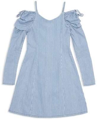 Habitual Girls' Whilemina Cold-Shoulder Striped Dress - Big Kid