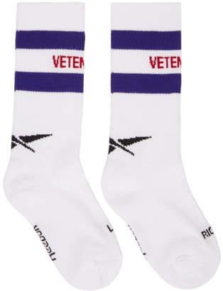 Vetements White Reebok Edition Classic Socks
