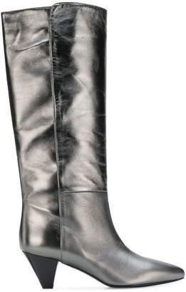 Twin-Set heeled metallic boots