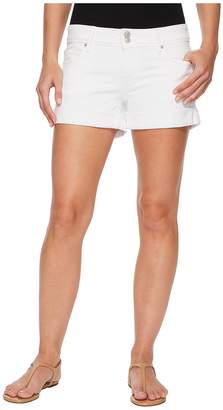 Hudson Croxley Mid Thigh Rolled Shorts in White Women's Shorts