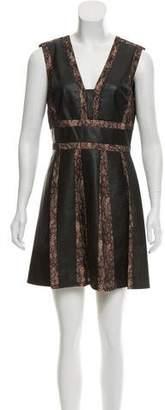 BCBGMAXAZRIA Faux-Leather Mini Dress