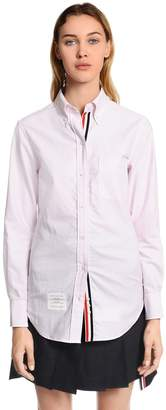 Thom Browne Solid Cotton Oxford Shirt