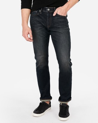 Express Slim Hyper Stretch Medium Wash Jeans