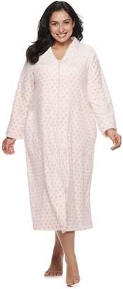 Croft & Barrow Plus Size Plush Zip Robe