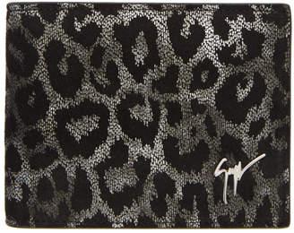 Giuseppe Zanotti Black and Silver Hangover Wallet