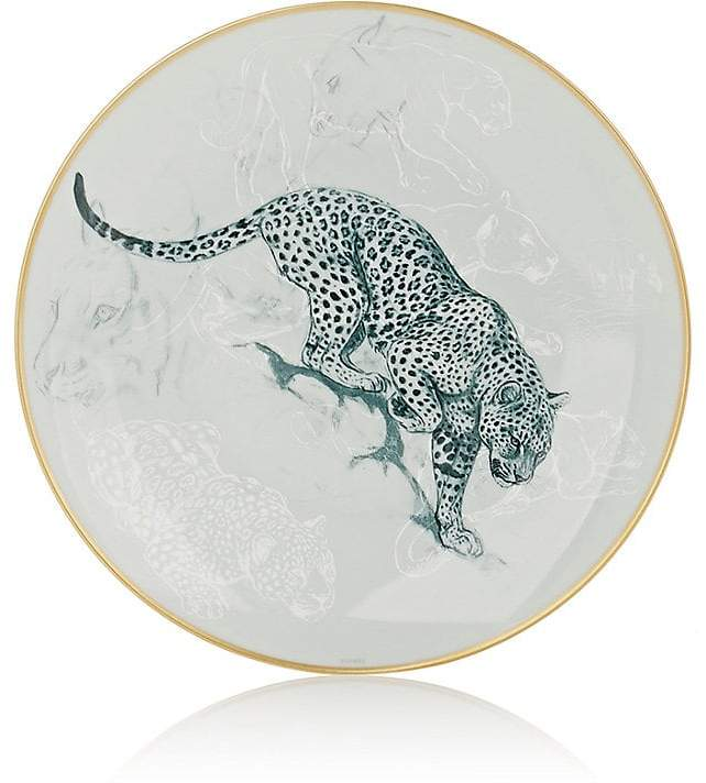 Carnets D'Equateur Panther-Illustrated Dessert Plate