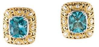 John Hardy 18K Blue Topaz Earrings