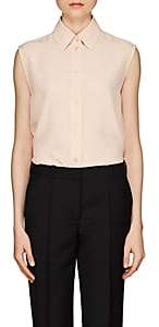 Givenchy Women's Silk Crêpe De Chine Blouse - Peach