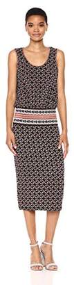 Max Studio Women's Printed Matte Jersey Ruched Dress