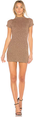 For Love & Lemons Sparkle Knit Metallic Dress