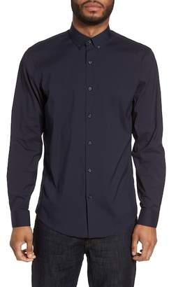 CALIBRATE Trim Fit Stretch Woven Sport Shirt