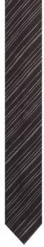 HUGO Boss Slimline tie in silk jacquard diagonal stripes One Size Black