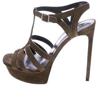 Saint Laurent Platform T-Strap Sandals