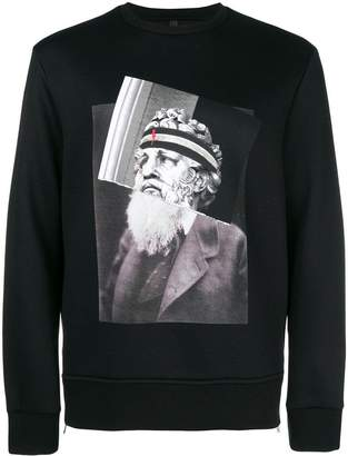 Neil Barrett Philosopher print sweatshirt