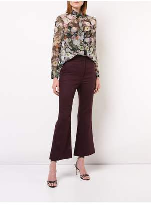 ADAM by Adam Lippes Double Face Wool Cropped Bell Bottom Pant