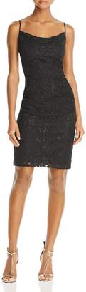 Laundry by Shelli Segal Womens Lace Shirred Cocktail Dress