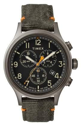 Timex R Allied Chronograph Canvas Strap Watch, 42mm