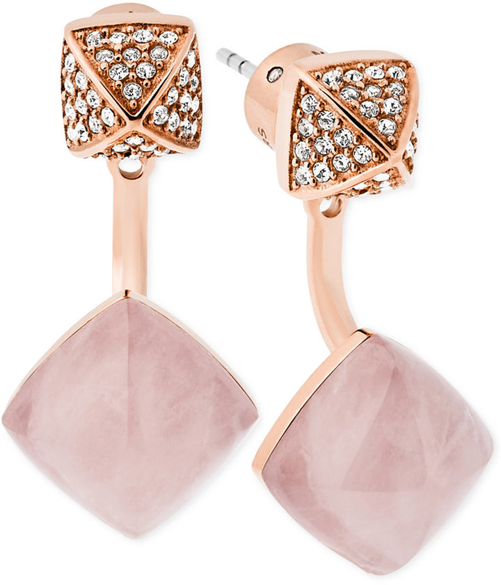 MICHAEL Michael Kors Michael Kors Stone and Pavé Front and Back Earrings