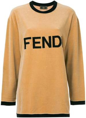 Fendi PRE-OWNED logo longsleeved T-shirt