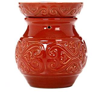 "Hosley 6"" High Red Ceramic Electric Candle Warmer. Ideal gift for wedding"