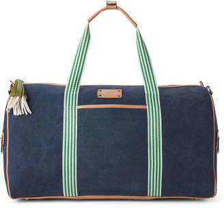 Adrienne Vittadini Denim Canvas Stripe Duffel