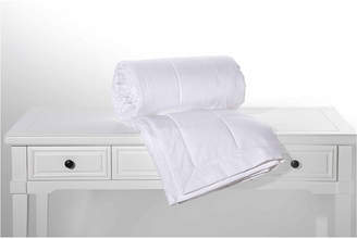 Peacock Alley White Pearl Cotton Jacquard Down Blanket