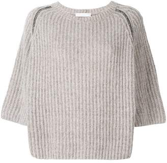 Fabiana Filippi 3/4 sleeve chunky sweater