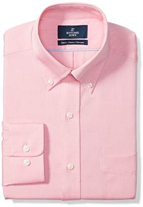 Buttoned Down Men's Classic Fit Button-Collar Solid Non-Iron Dress Shirt (No Pocket)