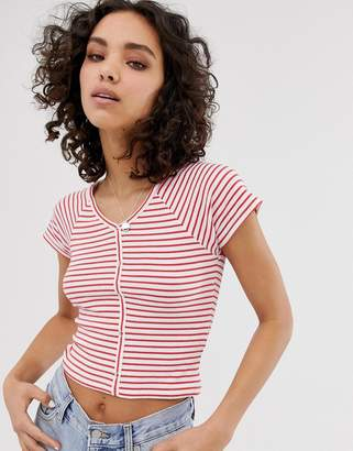Only stripe cropped t-shirt