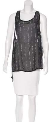 Ann Demeulemeester Silk Sleeveless Top