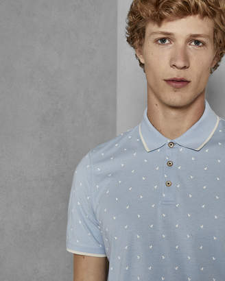 Ted Baker DOTIE Cotton printed polo shirt
