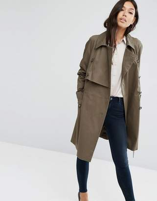 ASOS Trench with Deep Storm Flap $103 thestylecure.com